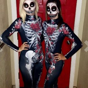 Other - Flash Skeleton roses catsuit halloween costume S-L